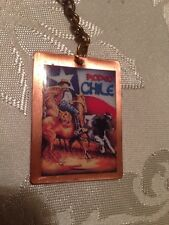 Chile Flag Keychain # 29 Huaso Rodeo Chile.