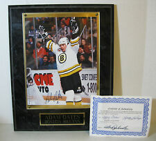 Adam Oates Autographed Photo Wood Plaque, Boston Bruins, NHL, 12x15 DL3