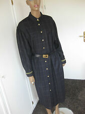 Basler extravagantes Kleid / Mantelkleid 40/42 dunkelblau