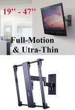 "Sanus Simplicity 19""–47"" SMF2 Full-Motion&Ultra-Thin Tilt & Swivel TV Wall Mount"
