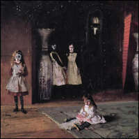 GUS FINK artist Outsider folk gothic modern goth horror ILLUMINATI DAUGHTERS