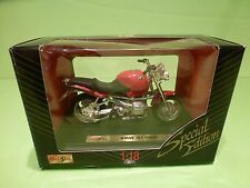 MAISTO 39312 MOTORCYCLE BMW R1100R - RED 1:18 - GOOD CONDITION