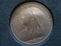 Queen Victoria One Penny Coin Year 1900