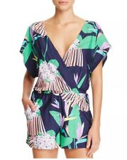607d1df46a85d3 NWT $140 Sz M Trina Turk Midnight Paradise Multi-Color Romper Swimsuit  Cover Up