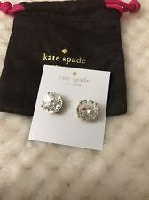 auth. NWT Kate Spade Large gumdrop CLEAR Earrings Gold Tone Retail $38 Gumdrops