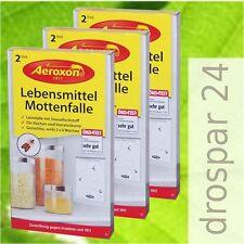 """Aeroxon Lebensmittel-Mottenfallen Mottenfalle Pheromonfalle 3x2 Stück """"GB"""