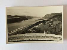 Oregon Vintage B&W Postcard c1950 Columbia River from Vista House
