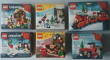 LEGO® 40106 & 40107 & 40124 & 40125 & 40138 & 40083 Promo Christmas Neu & OVP