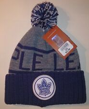 TORONTO MAPLE LEAFS MITCHELL & NESS KNIT POM HAT ADULT ONE SIZE