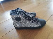 Damen Glitzer Slip-ons Sneakers Skaterschuhe Metallic Flats 78825 Schuhe