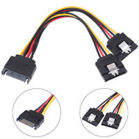 SATA Power 15-pin Y-Splitter Cable Adapter Male to Female for HDD Hard Drive_KP