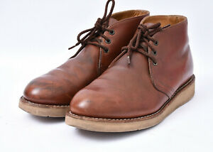 RED WING SHOES Traction Tred Men's Chukka Soft Toe Leather Work Laced Boots Sz 8
