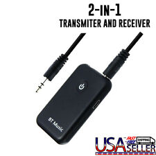 2in1 Wireless Bluetooth Transmitter Receiver Car AUX Music Stereo Audio Adapter
