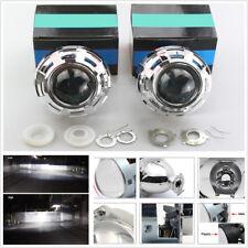 Pair 3'' HID Bi-Xenon Projector Lens & Shrouds H4 H7 Car Headlight Retrofit RHD
