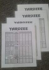 Double Sided Farkle Yardzee   Laminated Scorecards Set of 4 for Yard Dice Games