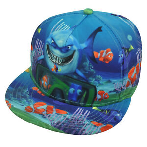 Disney Finding Nemo Pixar Movie Sublimated Print Snapback Hat Cap Character Fish