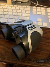 Compact Zoom Binoculars 8 X 22 with Black Pouch (Belt) New - Csx Logo Railroad