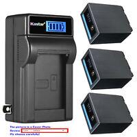 Kastar Battery LCD Wall Charger for CGA-D54Pro Panasonic AG-HPX250 AG-HPX250EN