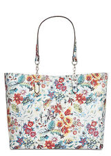 INC International Concepts Quiin Quilt Large Tote White FloralSilver