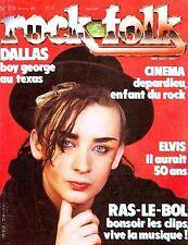 Rock & Folk #216 -BOY GEORGE- Depardieu, Neil Young, Lloyd Cole, Chaka Kahn,...
