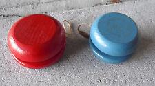 Lot of 2 Vintage Wood Yo-yos One Fli-Back LOOK