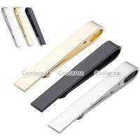 Stainless Steel Men's Elegant Skinny Thin Simple Necktie Tie Clip Clasp Bars Pin