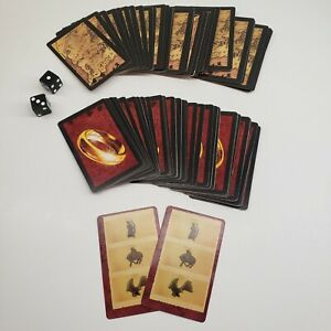 Risk Lord of the Rings Trilogy Edition 2003 Replacement Game Cards and 2 Dice
