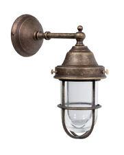 Applique da esterno in ottone anticato per giardino porticato o balcone