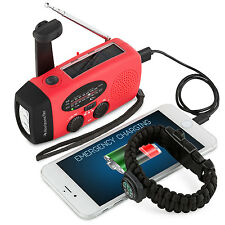 NEW Emergency Survival Solar Crank Self Powered AM/FM/WBNOAA Radio Phone Charger