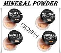 GOSH Mineral Foundation POWDER Matt Finish Flowers Look Medium to Full Coverage