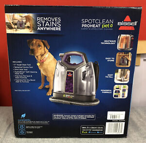 BISSELL SpotClean ProHeat Pet Purple Compact Carpet Cleaner