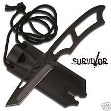 MC Survivor Neck Knife Taschenmesser Tanto Security Messer mit Halskette HK656