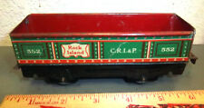 tin Train Car, Marx toys, Rock Island 552 CRI&P, green and red, great graphics