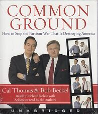 Common Ground by Cal Thomas & Bob Beckel Audio Book CD New