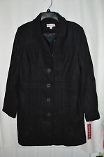 Merona Women's Long Wool Blend Winter Black Jacket - Assorted Sizes