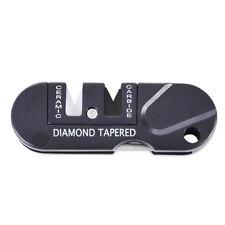 EDC Outdoor Pocket Tool Knife Sharpener Tungsten Steel Grindstone Diamond Taper
