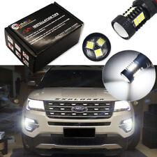 High Power HID White 21 3030-SMD LED Fog Lights Bulbs For 2016-up Ford Explorer