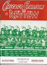 1944-45 Chicago Black Hawks-Red Wings Program Wings Start New Year With Win!!