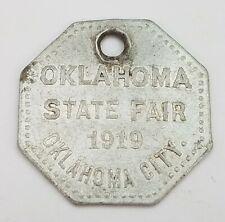 """TOKEN - 1919 Oklahoma State Fair """"585"""" EXONUMIA"""