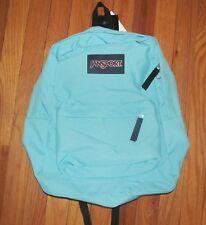 Jansport Super Break Solid Blue Topaz Backpack NWT