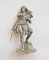 1/32 Fantasy Warrior Girl Tin Metal Soldier Woman Figure 54mm Female handmade