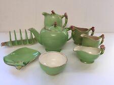 Royal Winton Grimvades Green Rosebud Tea Set