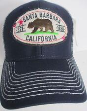Santa Barbara Hat Cap California Trucker Snapback Walking Bear USA Embroidery  z