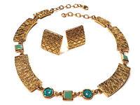 Bijou alliage doré parure créateur signée Micriss necklace