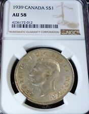 1939 CANADA SILVER DOLLAR NGC  AU58 - LOVELY  COIN