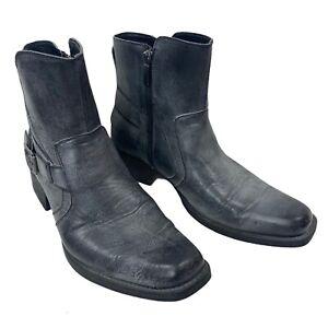 Rock & Republic Grey Zippered Boots Men's Size 10 Med RRARCHORGREY Excellent!!