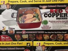 Red Copper Chef Square Pan 5 Piece Set Cookware Pans BRAND NEW!! Cookware dream!
