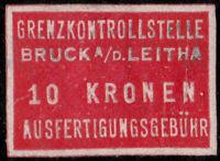 AUTRICHE / AUSTRIA / ÖSTERREICH - BRÜCK A/D LEITHA 10Kr Customs Revenue Stamp
