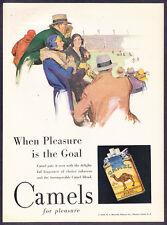 1930 Camels Camel Cigarettes Football Game Theme art vintage promo print ad