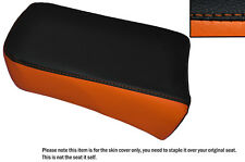 BLACK & ORANGE CUSTOM FITS SUZUKI LS 650 SAVAGE REAR LEATHER SEAT COVER